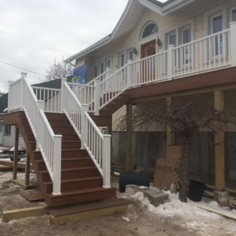 Timbertech Terrain Decking on raised home in Freeport
