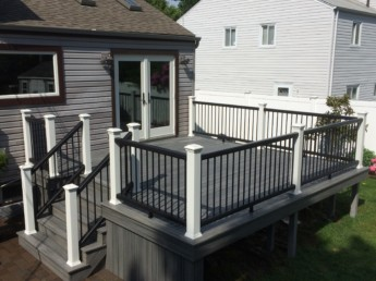 Trex Transcend Tropics Deck and Transcend Railing