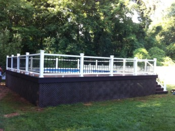 Trex White and Black Railings