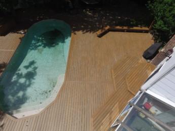Trex Transcend Havana Gold Pool Deck
