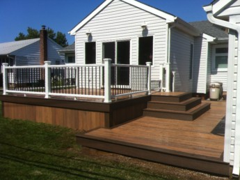 Timbertech Tigerwood Deck with Mocha Trim