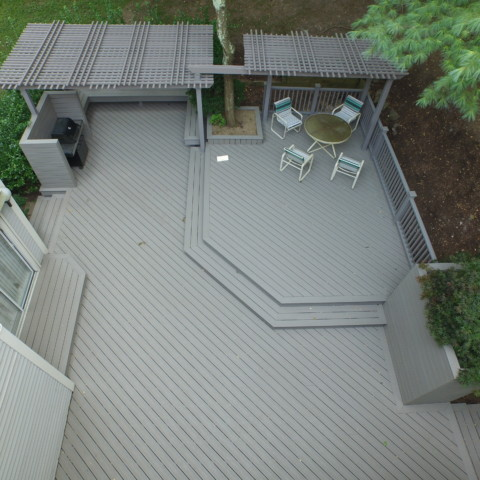 Trex Gravel Path Decking and Railings