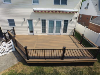 Timbertech Tigerwood Deck and Cocktail Railing