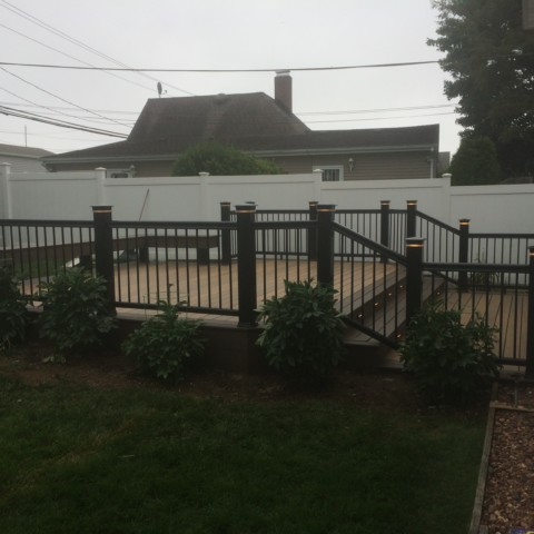 Timbertech Radiance Railing in Black with Lights