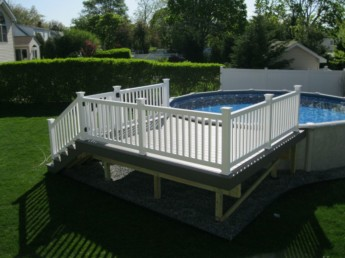 Trex Select Pebble Pool Deck