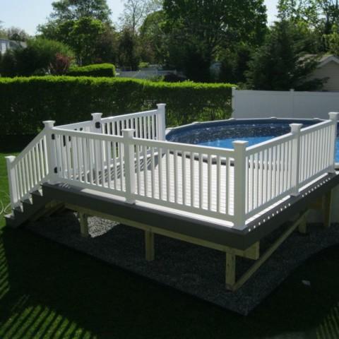 Trex Select Pebble Pool Deck