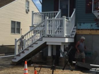 Trex Porch on Risen Home