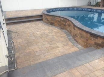 Lowered Pool Deck