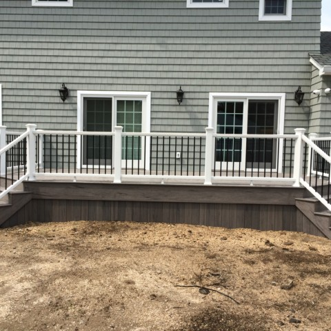 Trex Transcend White Railing with Black Balusters