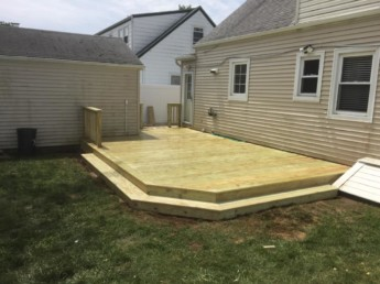 Pressure Treated Deck and Railings