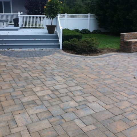 Paver Patio to Hot Tub Deck