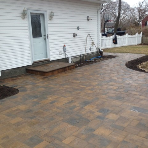 Paver Patio and Entrance