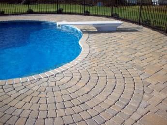 Pool Patio with Circle Kit