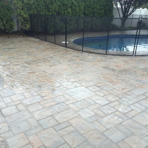 Pool Patio with Fence