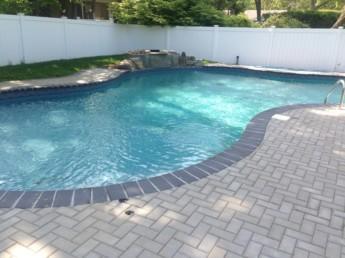 Pool Patio with Legestone Waterfall