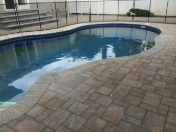 Pool with Safety Fence