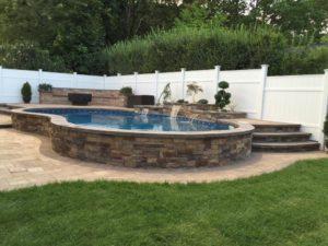 Raised Deck and Waterfall