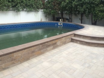 Raised Pool Patio