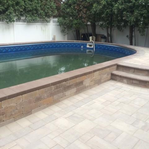 Raised Pool Patio