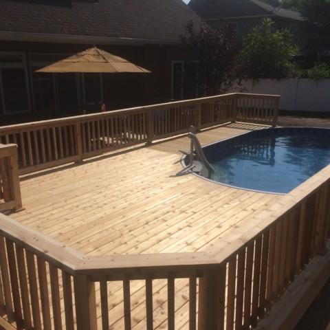 Cedar Pool Deck
