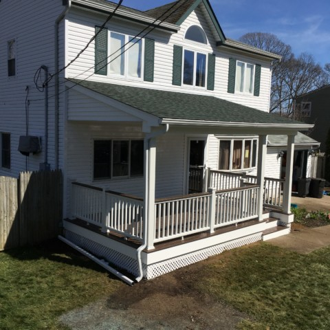 Porch with overhang