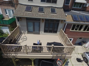 Trex Ropeswing deck with 48inch railings