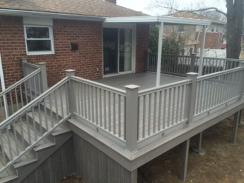 Timbertech Ashwood Decking with Radiance Railing