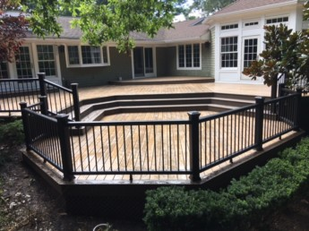 Trex Black Railings with Lighting