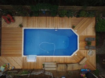 Cedar Inground Pool Deck