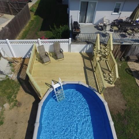 Pressure Treated Pool Deck