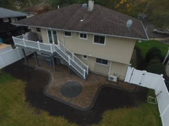 Trex Deck and Paver Patio