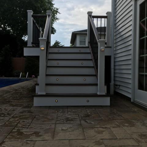 Trex Lighting on Staircase