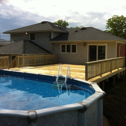 Pressure Treated Deck and Railings