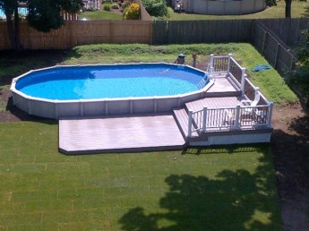 Multi Level Trex Pool Deck