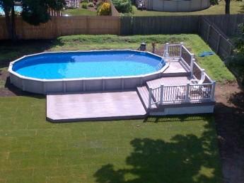Multi Level Trex Pool Deck