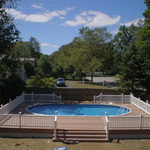 Semi-Inground Pool Deck