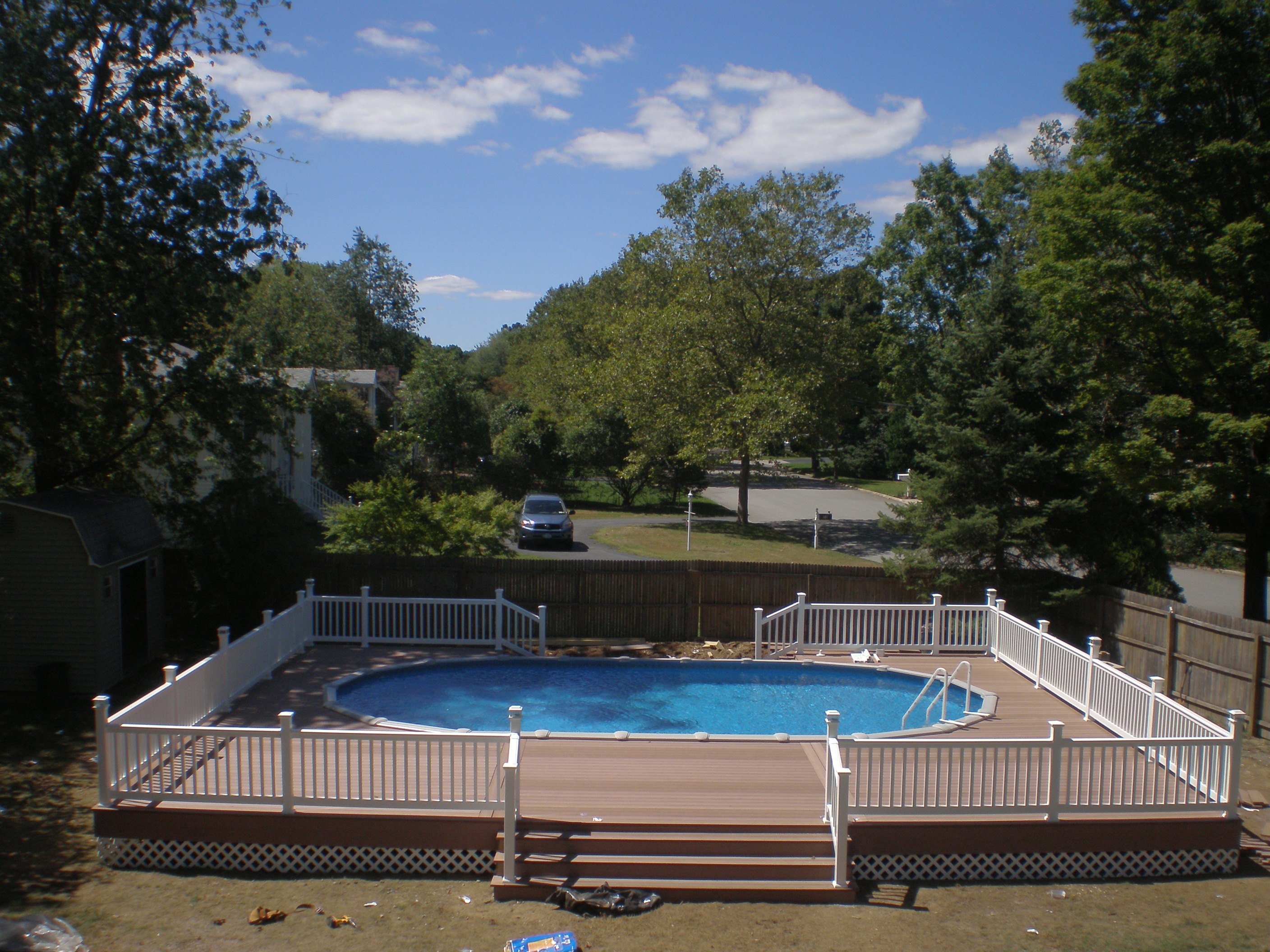 Semi Inground Pool Deck