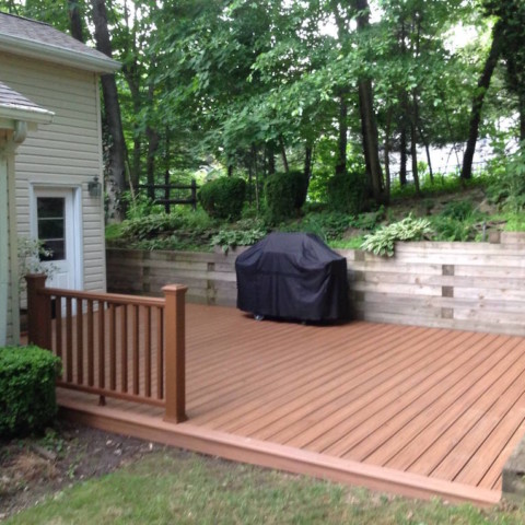 Trex Transcend Tiki Torch Decking and Tree House Railings