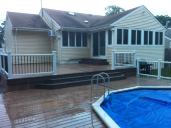Timbertech Pool Deck with Trex Railings