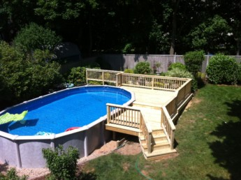 Pressure Treated Pool Deck and Railings