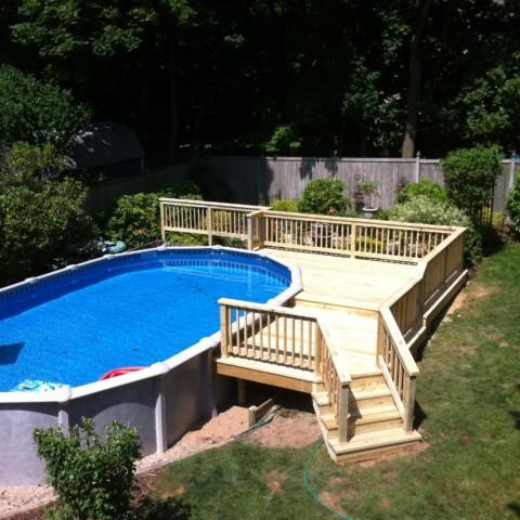 Pressure Treated Pool Deck and Railings
