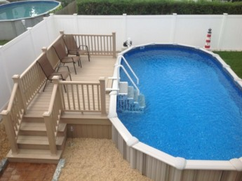 Trex Ropeswing Pool Deck