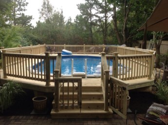 Pressure Treated Decking and Railings
