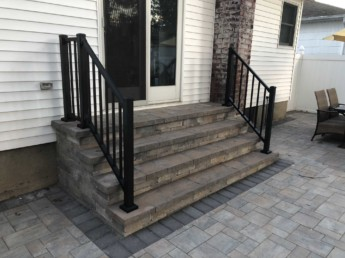 Pressure Treated Railings and Staircase